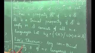 Mod-06 Lec-33 RICE'S THEOREM,LINEAR BOUNDED AUTOMATA,PROPERTIES OF TM
