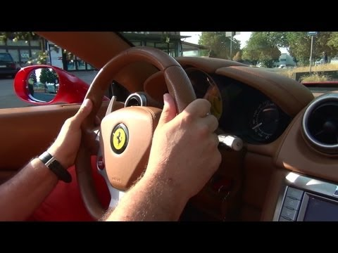 ferrari california - test drive per maranello