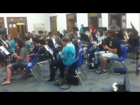 Stillwater jr. high school band preforms