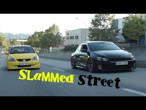 Slammed vw scirocco & honda civic
