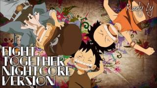 One Piece  Opening 14  Fight Together Nightcore Version