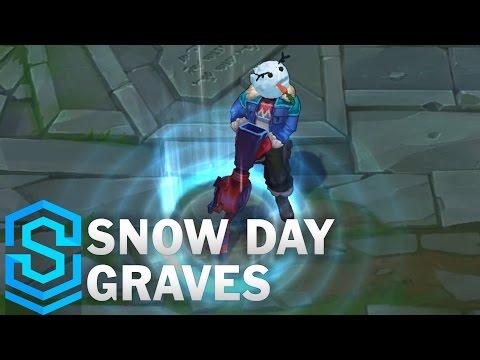 Một số hình ảnh và video review Skin Snow Day Graves - Graves Ngày Tuyết Rơi - Giáng Sinh 2016