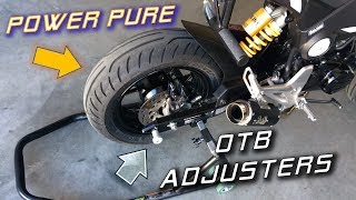 6. Best Upgrades for the WORST Parts of the Honda Grom   Tires & Adjusters Install