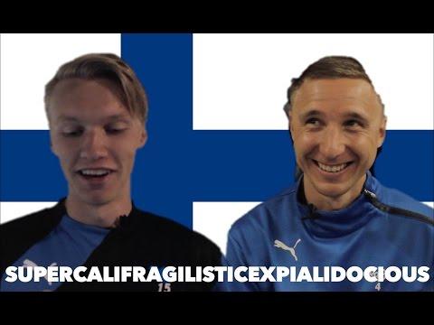 Suomalaiset futaajat yrittävät lausua vaikeita sanoja englanniksi