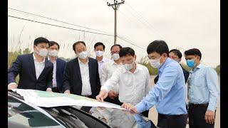 Đồng chí Ngô Hoàng Ngân, Phó Bí thư Thường trực Tỉnh ủy khảo sát thực địa tại thành phố Uông Bí