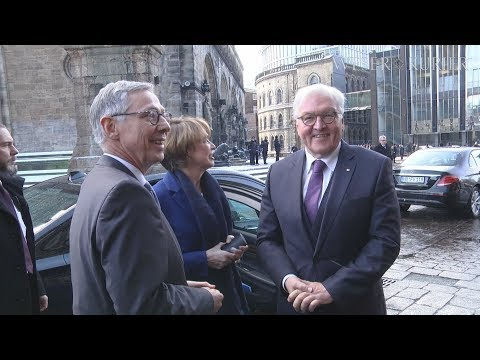 Bundespräsident Steinmeier auf Antrittsbesuch in Br ...