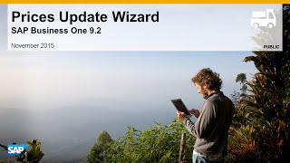 SAP Busines One 9.2 Price Update Wizard