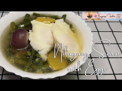 NILAGANG SITAW NA MAY ITLOG/Sitaw soup with Eggs/Yummy and healthy soup/ BREGANZA FOODIES
