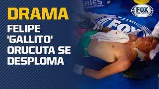 Drama en el ring: Felipe 'Gallito' Orucuta se desploma en la lona
