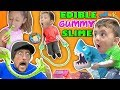 EDIBLE GUMMY SLIME JUMP ROPE w  SHARK BOARD GAME FAMILY NIGHT FUNnel Vision Vlog