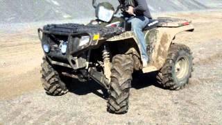 7. 2008 Polaris Sportsman 500 HO Gravel Pit Part 2