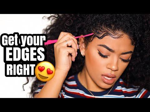 GET YOUR EDGES RIGHT! Wavy Baby Hair Tutorial | jasmeannnn (видео)