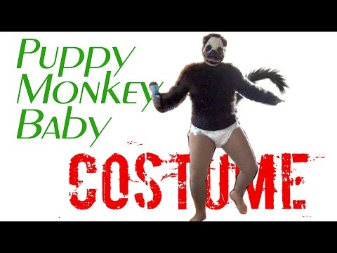 Puppy Monkey Baby DIY costume! Funny, humorous, hilarious and original idea for Halloween and party!