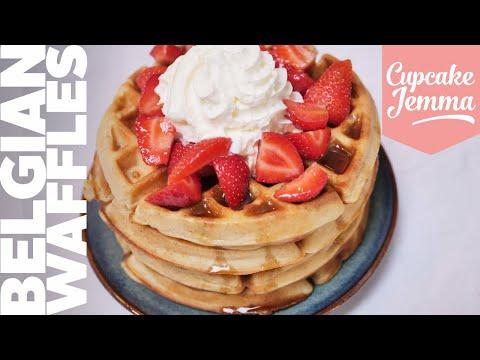 Fluffy, Crispy, Piping-Hot Belgian Waffles   Recipe   Cupcake Jemma Channel