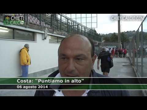 """Costa: """"Puntiamo in alto"""""""