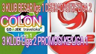Video CALON 3 KLUB DEGRADASI KE LIGA 2 DAN 3 KLUB PROMOSI KE LIGA 1 musim depan MP3, 3GP, MP4, WEBM, AVI, FLV Oktober 2017