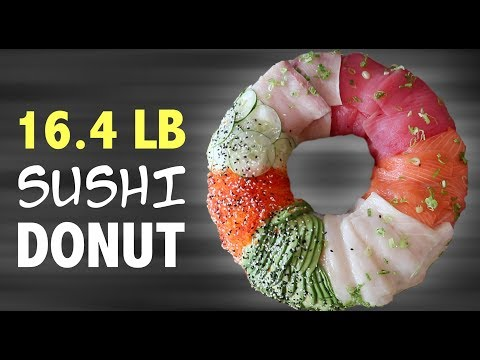 DIY 16 POUND SUSHI DONUT