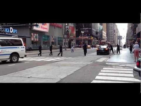 time square - An emotionally distrubed man pulls a huge knife on an NYPD officer and a chase ensues down 7th Avenue starting at 44th Street with NYPD officers at gunpoint....