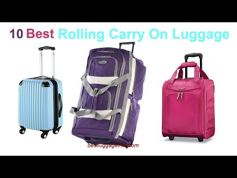 Best Rolling Carry On Luggage   Ten Best Cheap Rolling CarryOn Luggage Suitcase.