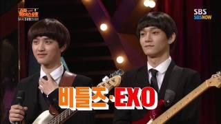 Video SBS [스타페이스오프] - EXO(레이,찬열,첸,디오) 비틀즈로 변신!! MP3, 3GP, MP4, WEBM, AVI, FLV Agustus 2018