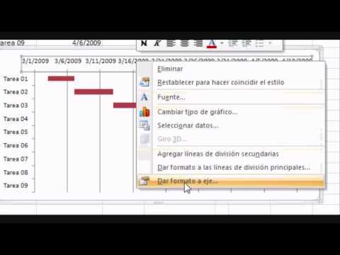 Gráfica de Gantt / Excel 2007