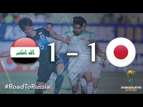 Xem lại Iraq 1 - 1 Nhật Bản 13-6-2017, Highlights, VL World Cup 2015-2018