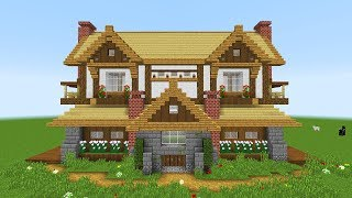 Minecraft: How To Build A Suburban Mansion House Tutorial (Mansion)