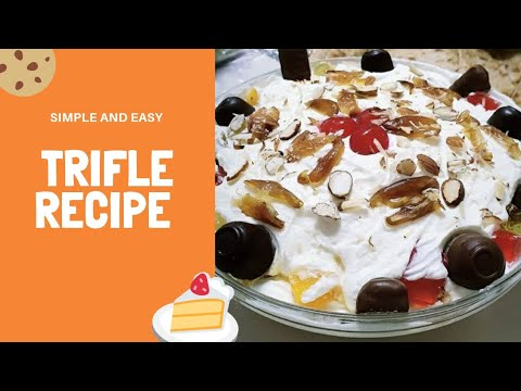 #triflepudding #triflerecipe #recipehomemade Step by step Trifle recipe in less then 10 steps.