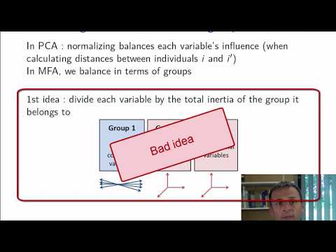Course on Multiple Factor Analysis: Weighting and global PCA (part 2/4)
