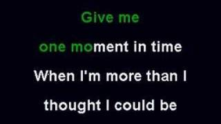 Video Whitney Huston - One Moment In Time (Karaoke) MP3, 3GP, MP4, WEBM, AVI, FLV Februari 2018