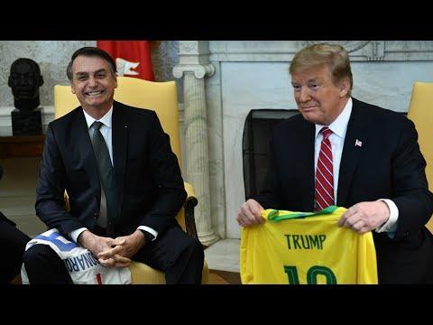 Video - Με δεσμεύσεις για συνεργασία η συνάντηση Τραμπ -Μπολσονάρου