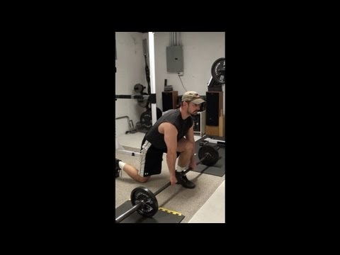 Great Exercise to Lift Your Butt and Hit Upper Hamstrings…Bar-In-Front Split Squats
