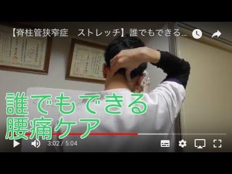 【脊柱管狭窄症 ストレッチ】誰でもできる腰痛ケア 札幌 整体