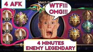 Video MYTHIC VS 2 LEGEND + EPIC | ENEMY SO FED 4 MINS LEGENDARY | MOBILE LEGENDS MP3, 3GP, MP4, WEBM, AVI, FLV Januari 2019
