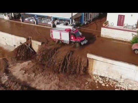 Κεφαλονιά: Πλημμύρισε από νερά και λάσπες το χωριό της Αγίας Ευφημίας