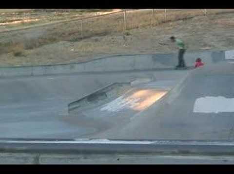 Bigspin Heel Flip on the Antioch Skatepark Volcano