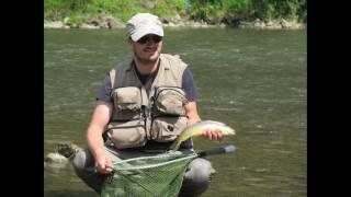 Fliegenfischen in Polen Dunajec Fluss