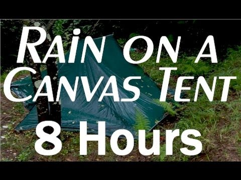 rain - An all night relaxing sound of rain on a canvas tent. This new 8 hour all night long video is presented by http://www.virtualdreamer.com. Occasional distant ...