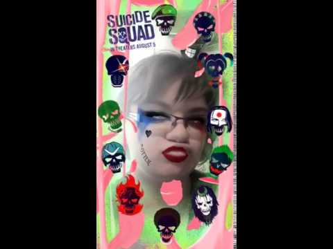 Harley Quinn Suicide Squad filter on Snapcha