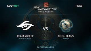 Team Secret vs Cool Beans, The International 2017 EU Qualifier