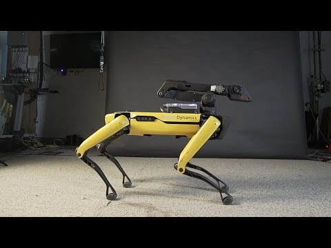 SpotMini by bostondynamics dances to uptown funk by Mark Ronson