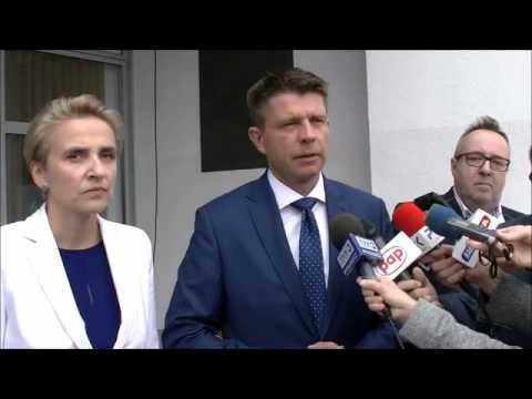 Briefing Ryszarda Petru i posłanki Joanny Scheuring-Wielgus