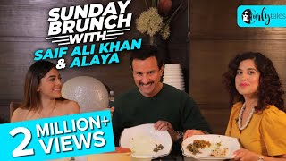 Video Sunday Brunch With Saif Ali Khan & Alaya F X Kamiya Jani | Curly Tales download in MP3, 3GP, MP4, WEBM, AVI, FLV January 2017
