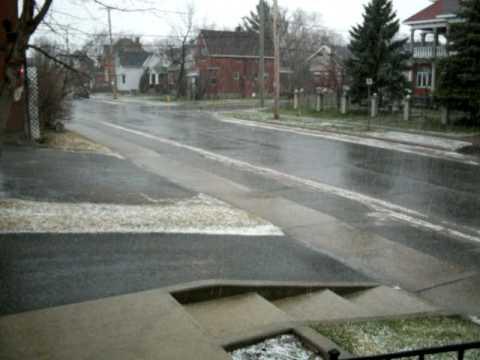 Hail Storm on April 11, 2010.