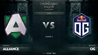 Alliance vs OG, Game 3, EU Qualifiers The Chongqing Major