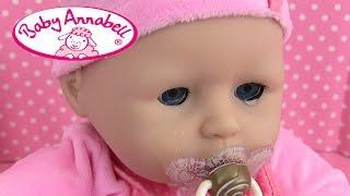 Jaux France  city photo : Poupon Baby Annabell Bébé Pleure Sac à langer Baby Doll Review Diaper change