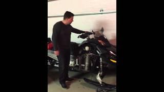 10. Hindle slip on test Skidoo Renegade X 1200