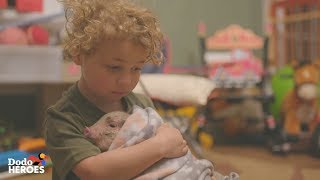 This Little Boy And His Mom Take Care of 70 Rescued Farm Animals | The Dodo Heroes Season 2 by The Dodo