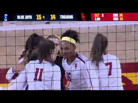Women's Volleyball: USC 3, Creighton 2 - Highlights 8/25/18