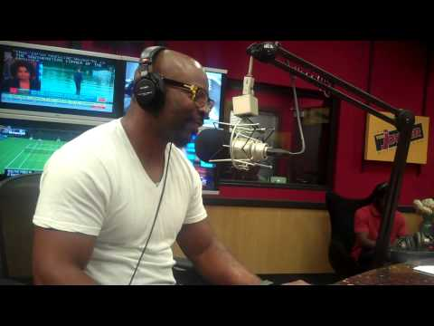Comedian Rudy Rush interviews on the Tom Joyner Morning Show